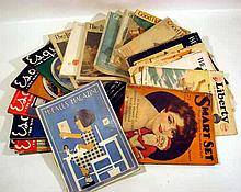 19 Pc. Antique & Vintage MAGAZINES Periodicals Advertising Domestic Ladies' Good Housekeeping Literary Digest Esquire Delineator Better Homes & Gardens McCall's Life