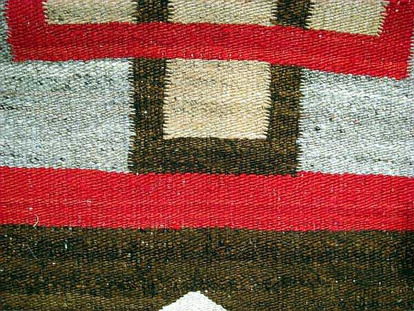Antique NAVAJO RUG Hand-Woven Wool Natural Vegetable Dyes 5'x8'