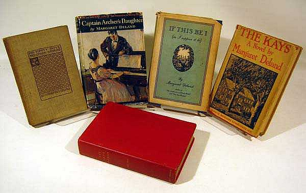 5V First Edition MARGARET DELAND Novels 1920s Dust Jackets