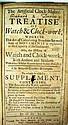 William Denham THE ARTIFICIAL CLOCK-MAKER 1700 Antique Horology History Of Watch & Clock Satellite-Instruments Telescopes Fold-Out Plates