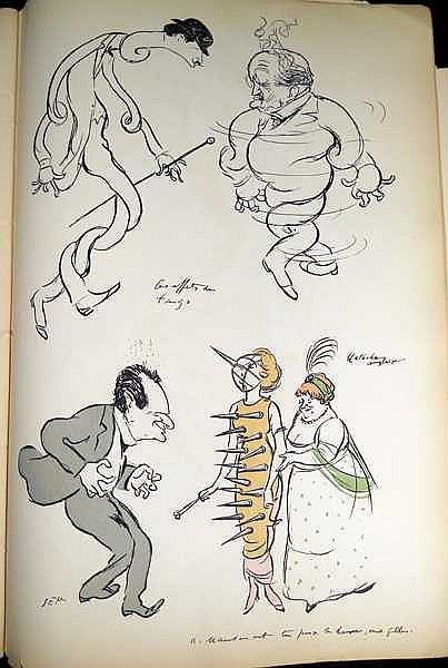 Georges Goursat Sem Renault Caricature Book C1923 Antique
