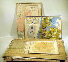 31 Pc. Antique U.S. CITIES MAPS New York Philadelphia Boston Cincinnati San Francisco New Orleans Pittsburgh Cleveland Kansas City Buffalo