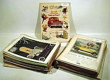 150 Pc. Vintage FORD AUTOMOBILE HISTORY Advertising 1920s-1960s Thunderbird Lincoln Fairlane Datsun 280-Z Delage Duryea Duesenberg