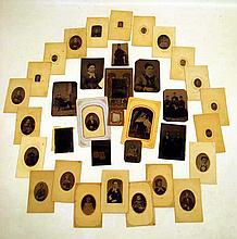 35 Pc. Antique TINTYPES Victorian Photographs on Metal