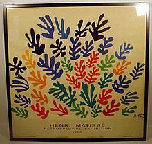 HENRI MATISSE RETROSPECTIVE 1966 Vintage Exhibition Poster UCLA Art Council Mourlot