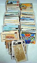 375 Pc. Antique & Vintage POSTCARDS White Border Linen 1905-1950 U.S. Cities Towns Unique Real Photo RPPCs Tintype Souvenir Folders
