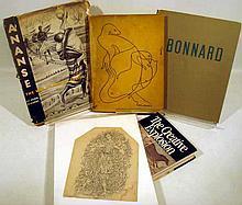 5 Pc Vintage ELAINE de KOONING PENCIL SKETCH & BOOKS Abstract Figurative Expressionist Art Origins Religion West Africa Bonnard
