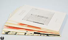 6V French Art Periodical DERRIERE LE MIROIR Garache Bazaine Arakawa Chillida Pol Bury Original Double Page Color Lithographs