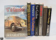 7V Grafton Updike Leonard AUTHOR-SIGNED FICTION Mystery Thriller Mailer Wambaugh Shepherd LaBrava Choirboys Well Preserved Dust Jackets