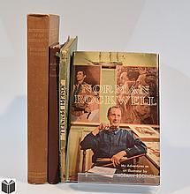 4V Signed Norman Rockwell VINTAGE & ANTIQUE ART HISTORY First Trade Printing Adventures Of An Illustrator Maxime Lalanne Etching Etchers Joseph Pennell Tipped-in Plates