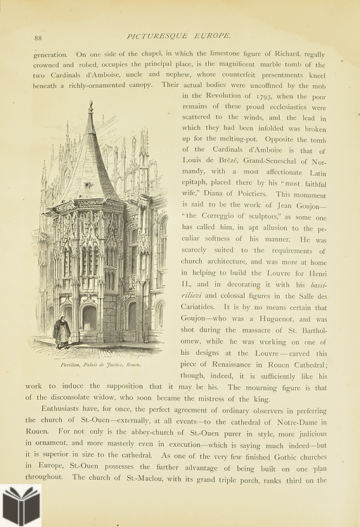 1875-1879 PICTURESQUE EUROPE VOLUME 1 2 3 5 LOT OF 4 NICE ILLUSTRATIONS Antique