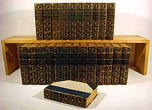 24V THE WORKS OF THEOPHILE GAUTIER 1900-1903 Limited Edition Antique French Literature Decorative Leather Color Plates