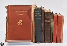 9V Decorative Civil War ANTIQUE AMERICAN HISTORY Illustrations Military Generals John Quincy Adams Daniel Webster Granville Sharp