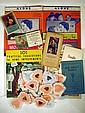 Vintage COLLECTIBLE ESTATE EPHEMERA Marx Bros. Sheet Music Beauty Salon Magazine Sphinx Magician 1950s Perfume Samples Pin-Up Calendar