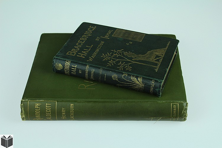 2V Irving Blackburn CALDECOTT LITERATURE Bracebridge Hall Children's Illustrations Art History Decorative Binding