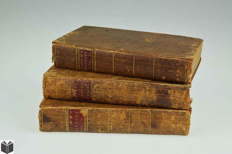 3V John Gough A HISTORY OF THE PEOPLE CALLED QUAKERS 1789-1790 Antique English Theology Society Of Friends Leather Bindings