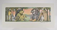 Scarce Signed MAURICE SENDAK Where The Wild Things Are Poster Print 1971 The Morning After Children's Illustration Art Agent Provenance Very Fine