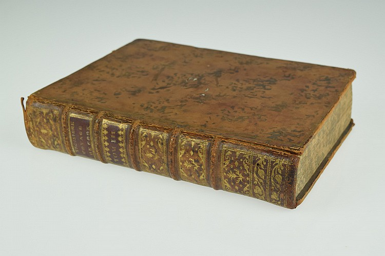 James King TROSIEME VOYAGE DE COOK 1785 First French Edition Antique English Nautical Travel & Exploration Hawaii Engraved Fold-Out Plates Charts Webber Leather Binding
