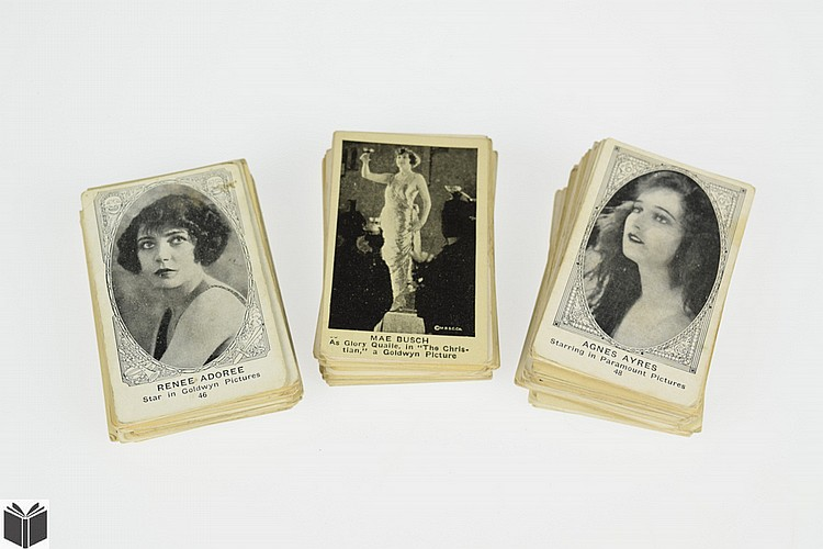 100Pcs Will Rogers VINTAGE & ANTIQUE SILENT MOVIE STAR CARDS American Caramel Co Collector Stage & Screen Hollywood Film Harry Carey Harold Loyd Hoot Gibson Jackie Coogan Buck Jones Cecil B DeMille