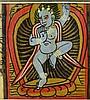 6Pcs Original Antique TIBETAN ILLUMINATED MANUSCRIPT LEAVES Prayer Panels Ink Calligraphy Color Painted Illustrations Deities Buddhist Hindu Art