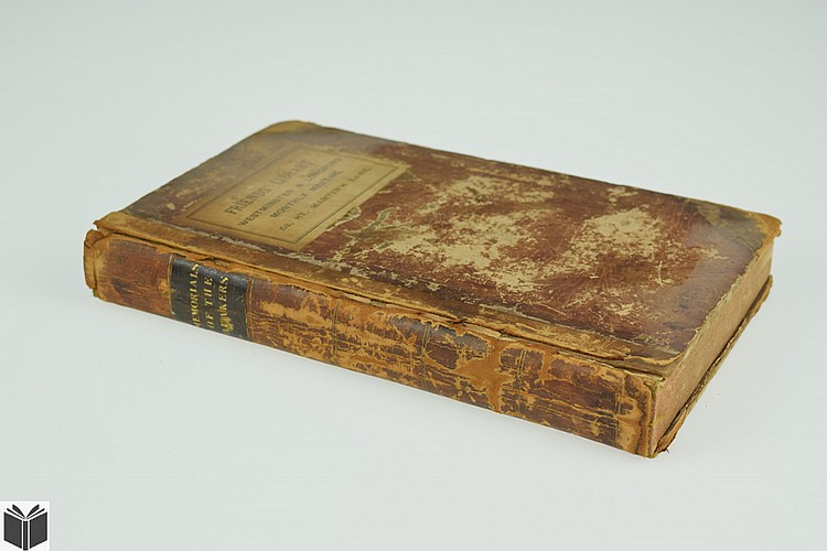 A COLLECTION OF MEMORIALS CONCERNING DIVERS DECEASED MINISTERS AND OTHER PEOPLE CALLED QUAKERS 1788 First English Edition Antique American Theology & History Society Of Friends Pennsylvania