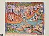 John Frampton THE MOST NOBLE AND FAMOUS TRAVELS OF MARCO POLO TOGETHER WITH THE TRAVELS OF NICOLO DE CONTI 1929 Limited Edition Antique Travel & Exploration Fold-Out Map Color Frontispiece