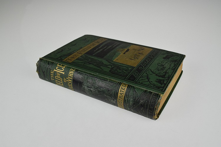 Jules Verne THE FIELD OF ICE 1875 Antique Children's Literature Arctic Exploration Polar Expedition Nautical Plates Decorative Binding