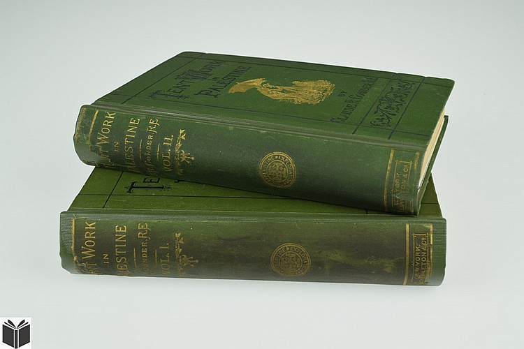 2V Claude Reignier Conder TENT WORK IN PALESTINE 1878 First Edition Antique Near Eastern Exploration History Textual Illustrations Fold-Out Plate