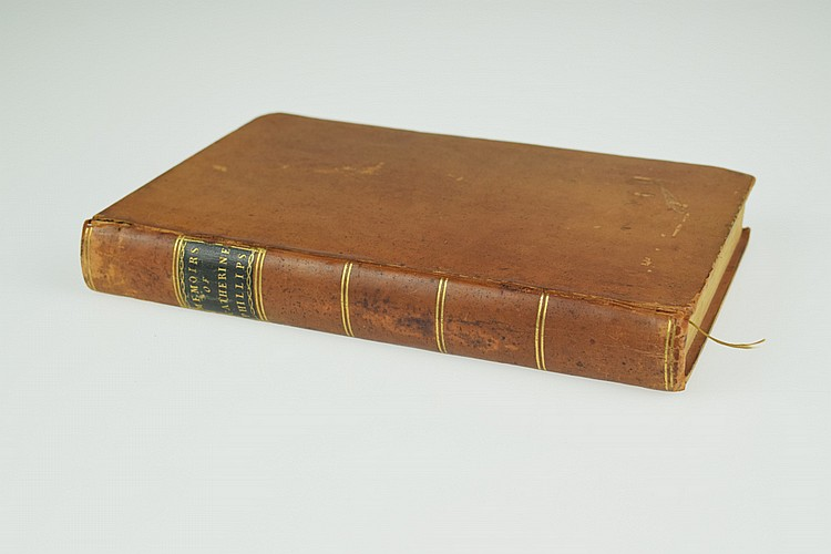MEMOIRS OF THE LIFE OF CATHERINE PHILLIPS 1797 First Edition Antique Theology Epistles Quaker History Leather Binding