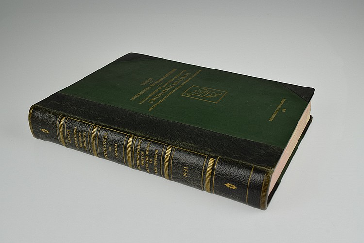 Author-Signed Ogilvie Van Wagenen REPORT UPON THE DEMARCATION of OF THE BOUNDARY 1931 Antique United States Canadian History International Boundary Commission Color Fold-Out Maps