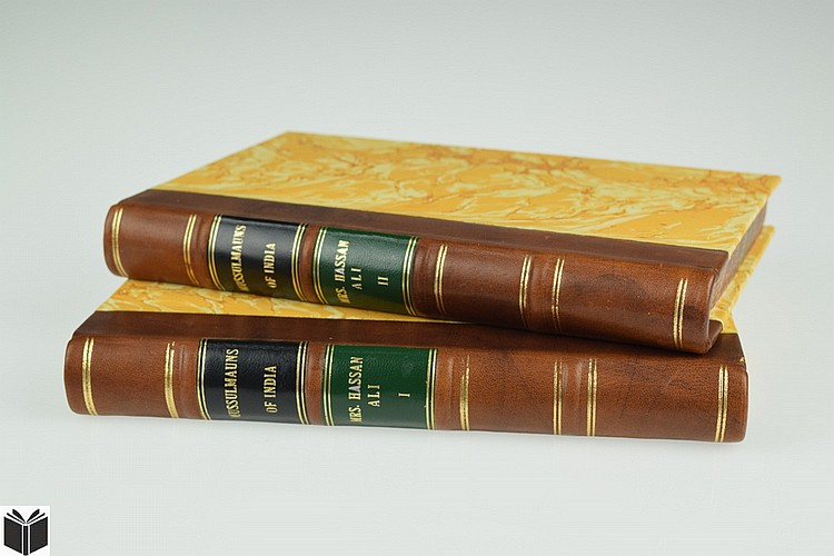 2V Meer Hassan Ali OBSERVATIONS ON THE MUSSULMAUNS OF INDIA 1832 Antique English Colonial Travel & Exploration Anthropology Decorative Binding