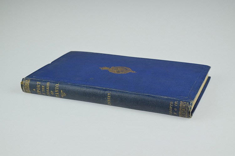 Charles Lindsey AN INVESTIGATION OF THE UNSETTLED BOUNDARIES OF ONTARIO 1873 First Edition Antique Canadian Travel & Exploration Fold-Out Maps