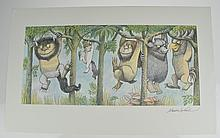 Scarce Signed MAURICE SENDAK Where The Wild Things Are Poster Print 1971 Let The Wild Rumpus Start Children's Illustration Art Agent Provenance