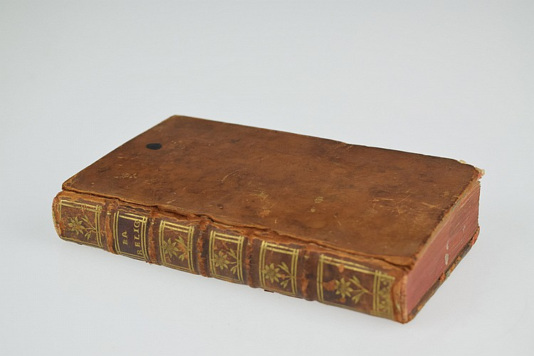 Louis Racine LA RELIGION POEME 1742 Antique French Christian Poetry Theology Leather Binding Historiated Initials Engraved Headpieces Tailpieces Rousseau