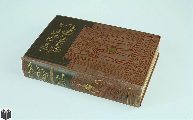 Lewis Spence MYTHS & LEGENDS OF ANCIENT EGYPT c1920 Antique Egyptology Ancient Civilizations Art History Color Plates Decorative Binding