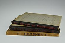 3V Peet / Griffith / Newberry / Ayrton / Loat VINTAGE & ANTIQUE EGYPTOLOGY c1900-1913 Archaeology El Bersheh Mahasna Cemeteries Abydos Plates Maps Color Frontispiece Folio
