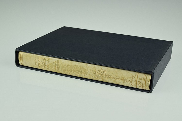 Oliver Goldsmith THE VICAR OF WAKEFIELD 1929 Illustrator-Signed Arthur Rackham Deluxe Limited Edition Literature Color Plates Vellum Binding Slipcase