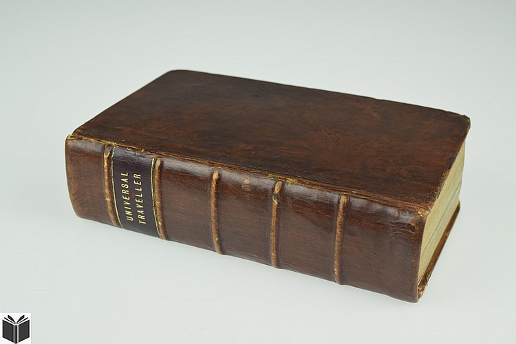 Samuel Prior THE UNIVERSAL TRAVELLER 1822 First Edition Antique Travel Exploration Plates Leather Binding