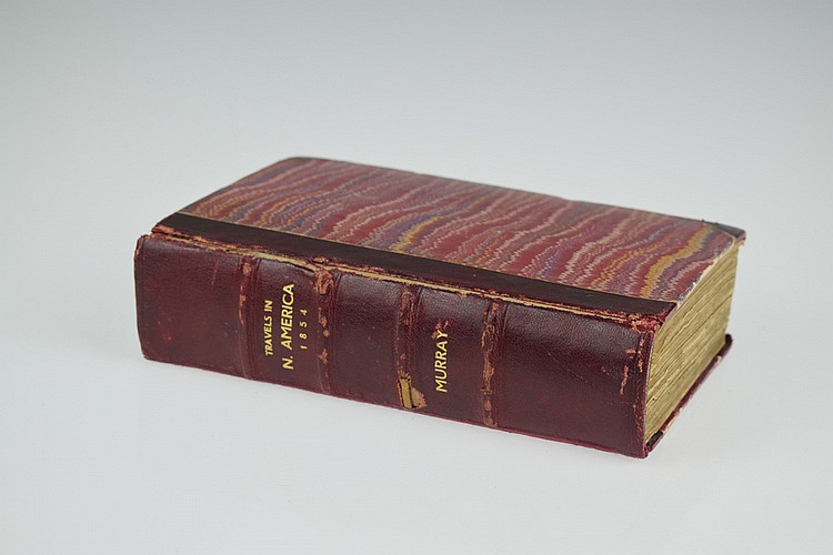 Charles Augustus Murray TRAVELS IN NORTH AMERICA 1854 Antique English Travel & Exploration Two Volumes As One Native American Indians Hand-Colored Engraved Plates