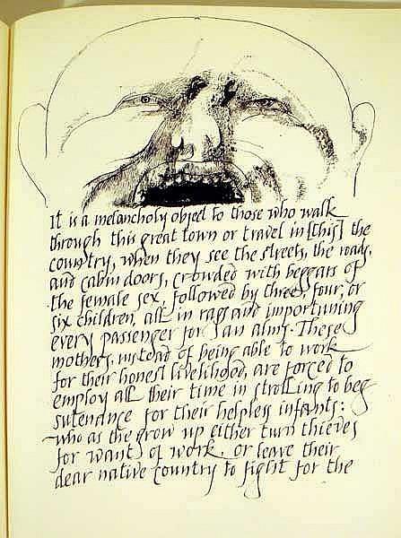 Jonathan Swift Leonard Baskin A Modest Proposal 1969 First