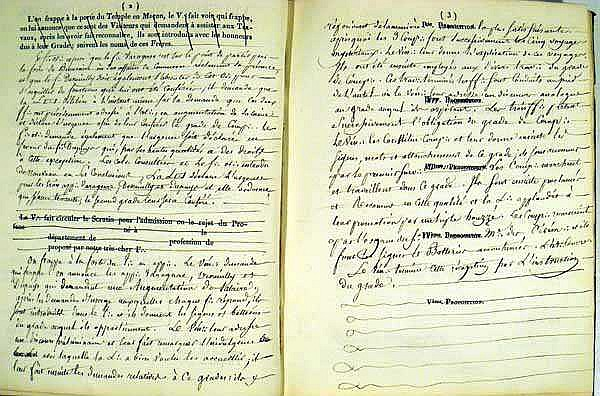 Paris Lodge Records Minutes Of Meetings Lists Of Officers