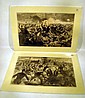 2 Pc. Antique Large CIVIL WAR LITHOGRAPHS Winslow Homer Harper's Weekly Cavalry Infantry Battle Charge Union Army