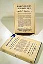 2V William J. Robinson WOMAN: HER SEX & LOVE LIFE / BIRTH CONTROL 1936 Antique Eugenics