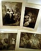 4 Pc. Antique LARGE SHAKESPEARE ENGRAVINGS Boydell 1795 Tempest Measure for Measure Much Ado About Nothing Taming of the Shrew