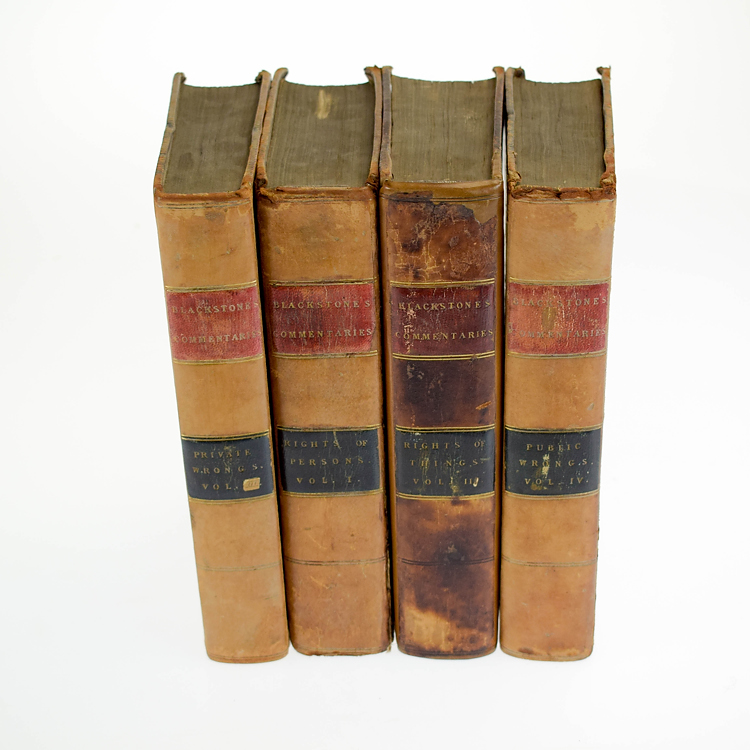 4V William Blackstone COMMENTARIES ON THE LAWS OF ENGLAND 1809