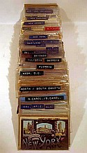 260 Pc. Antique & Vintage AMERICAN CITIES & TOWNS POSTCARDS States Landmarks Scenic Views State Capitol Series Gold Ink