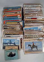 250 Pc. Antique & Vintage CANADA CITIES & TOWNS POSTCARDS Ottawa Toronto Quebec Montreal Halifax Nova Scotia Landmarks Scenic Views