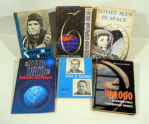32Pcs Soviet Russian VINTAGE SPACE PROGRAM BOOKS & EPHEMERA Star