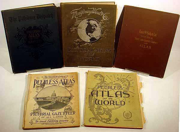 11V Antique ATLAS & GEOGRAPHY COLLECTION Maps 19th Century