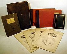 5V Antique ART FOLIOS & PRINTS Charles Dana Gibson Thirty Favorite Paintings 19th C. German Painting Alfred Hutty Etchings Scott Heroines